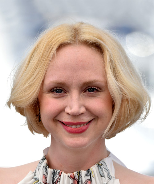Gwendoline Christie Short Straight Casual  Bob  Hairstyle   - Light Blonde Hair Color