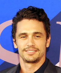 James Franco Short Wavy Casual    Hairstyle   -  Brunette Hair Color