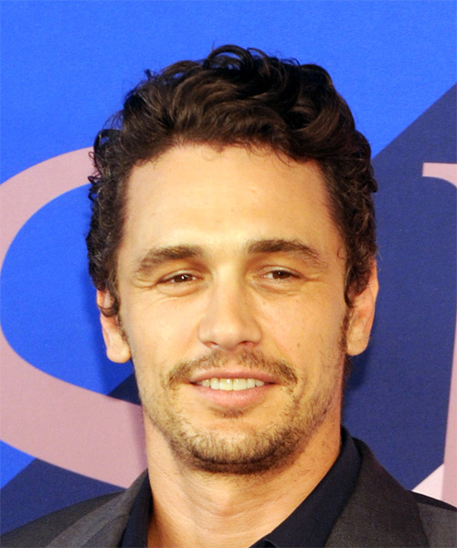 James Franco Short Wavy Casual Hairstyle Medium Brunette Hair Color
