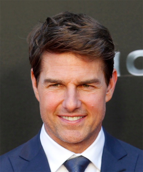 Tom Cruise Short Straight Casual   Hairstyle   - Dark Brunette