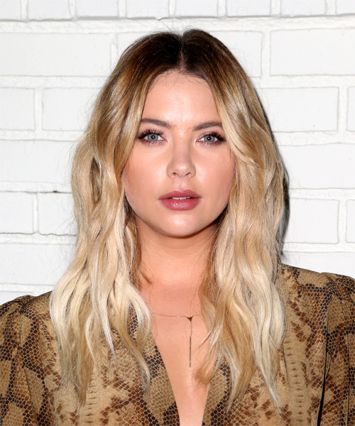 Ashley Benson Long Wavy Casual   Hairstyle   - Light Blonde