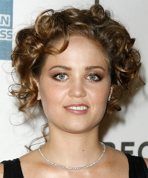 Erika Christensen Medium Curly Formal   Updo Hairstyle