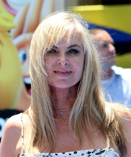 Eileen Davidson Long Straight   Light Blonde   Hairstyle with Layered Bangs