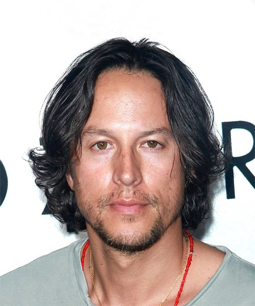 Cary Fukunaga Medium Wavy Casual   Hairstyle   - Dark Brunette
