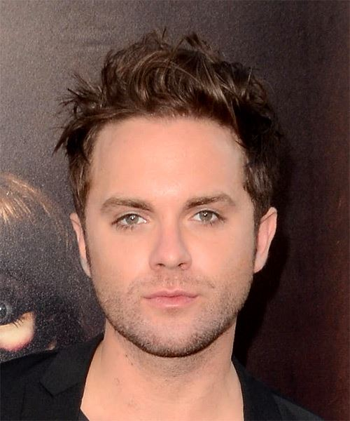 Thomas Dekker Short Wavy    Brunette   Hairstyle