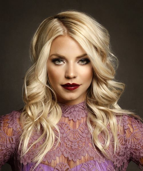 Long Wavy Formal   Hairstyle   - Light Blonde