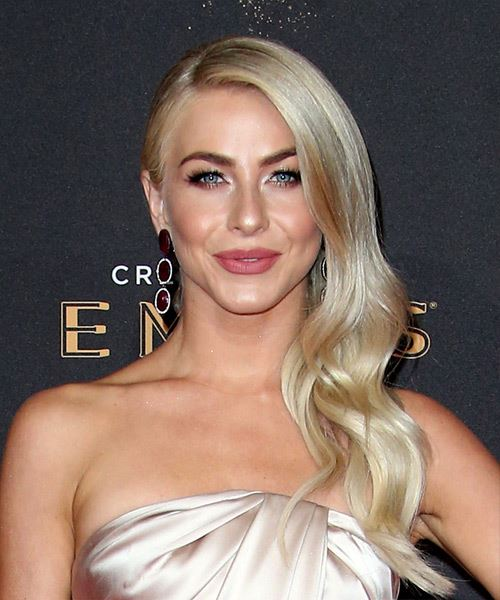 Julianne Hough Long Wavy   Light Ash Blonde   Hairstyle
