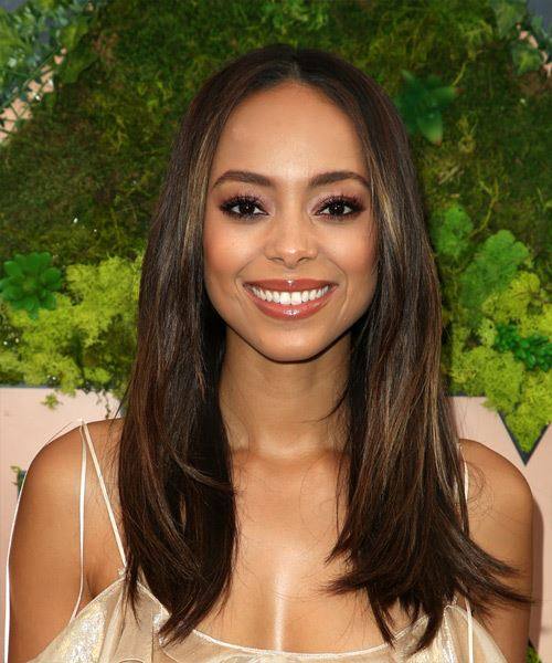 Amber Stevens Long Straight Casual   Hairstyle   - Dark Brunette