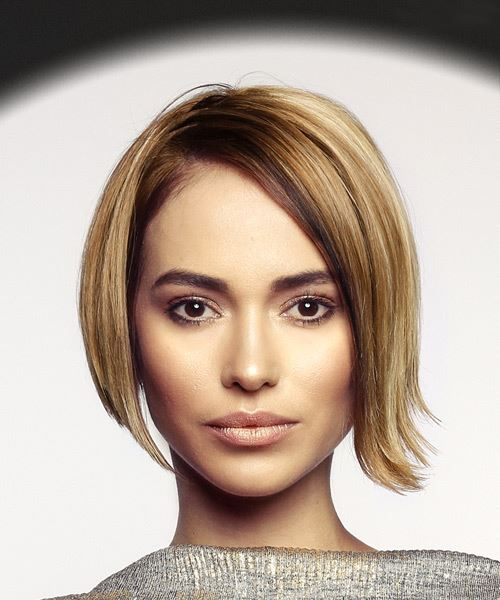 Short Straight Casual Bob  Hairstyle   - Dark Blonde