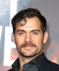 Henry Cavill Short Wavy Casual    Hairstyle   -  Brunette Hair Color
