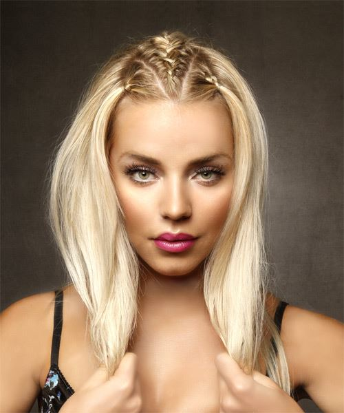 Long Straight Casual   Hairstyle   - Light Blonde