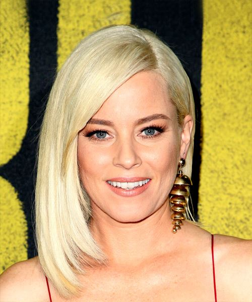 Elizabeth Banks Medium Straight Casual Bob  Hairstyle with Side Swept Bangs  - Light Blonde