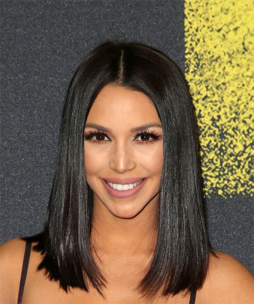 Scheana Shay Medium Straight Formal Bob  Hairstyle   - Black