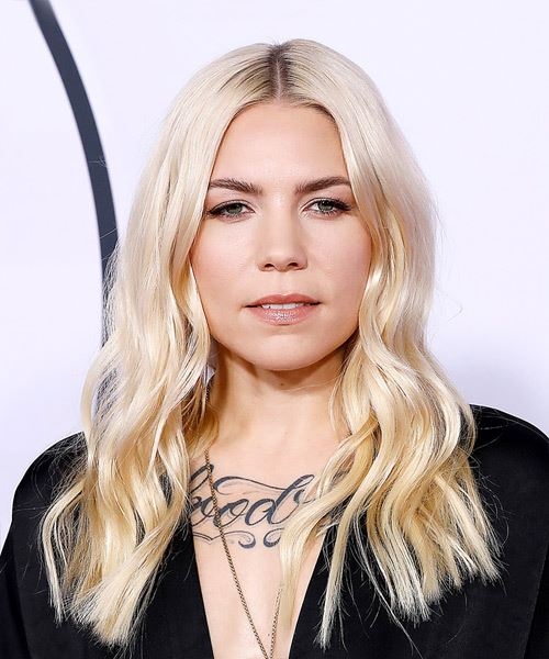 Skylar Grey Long Wavy Casual   Hairstyle   - Light Blonde