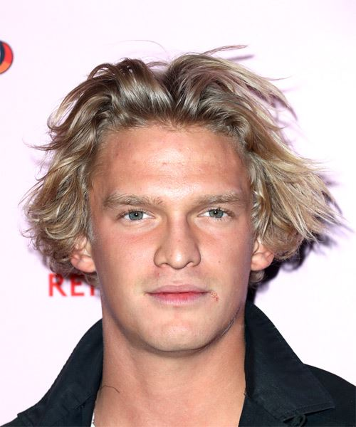 Cody Simpson Short Wavy Casual    Hairstyle   - Medium Blonde Hair Color