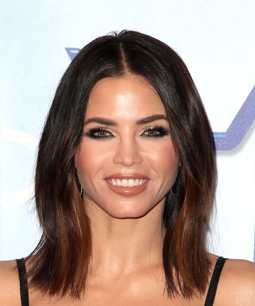 Jenna Dewan Medium Straight Casual  Bob  Hairstyle   - Dark Brunette Hair Color