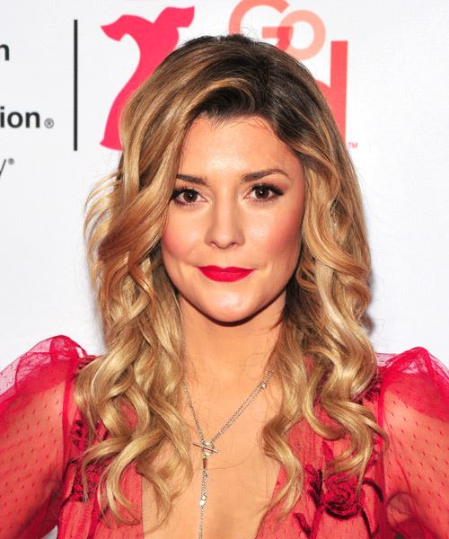 Grace Helbig Long Curly Casual   Hairstyle   - Medium Blonde