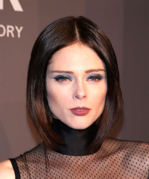 Coco Rocha Short Straight Casual Bob  Hairstyle   - Medium Brunette