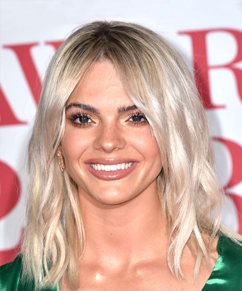 Louisa Johnson Medium Wavy Casual Bob  Hairstyle   - Light Blonde (Ash)