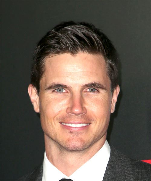 Robbie Amell Short Straight Formal    Hairstyle   - Dark Brunette Hair Color