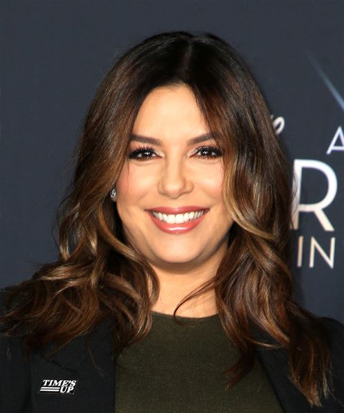 Eva Longoria Medium Wavy Casual   Hairstyle   - Medium Brunette