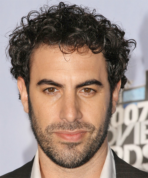 Sacha Baron Cohen Short Curly Casual   Hairstyle