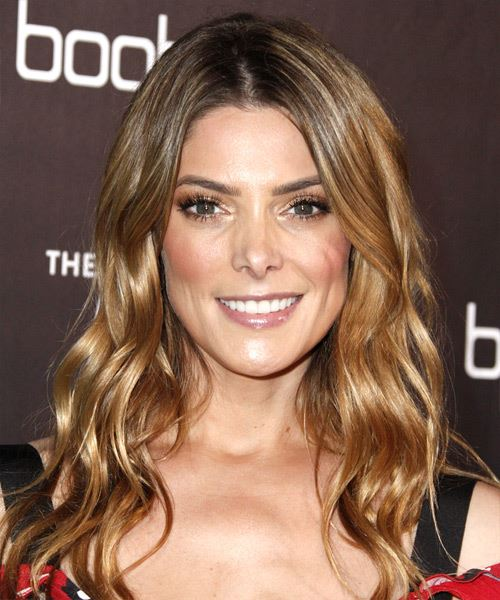 Ashley Greene Long Wavy Casual   Hairstyle   - Light Brunette