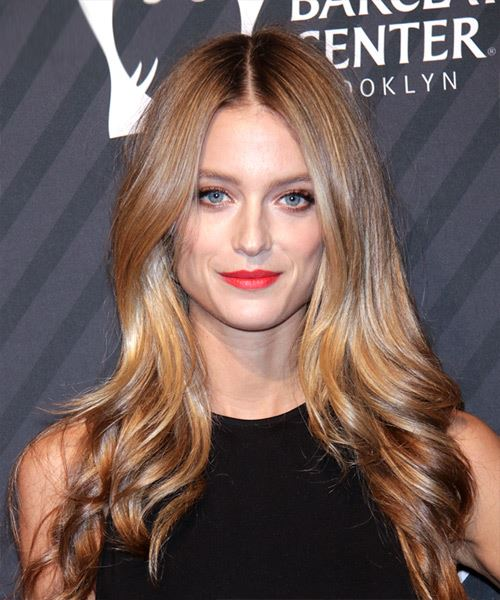 Kate Bock Long Straight Dark Blonde Hairstyle with Thick Hair Density