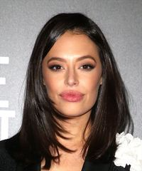 Chloe Bridges Long Straight   Dark Brunette   Hairstyle