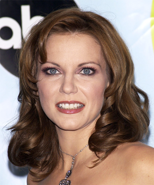 Martina McBride Long Wavy Formal   Hairstyle