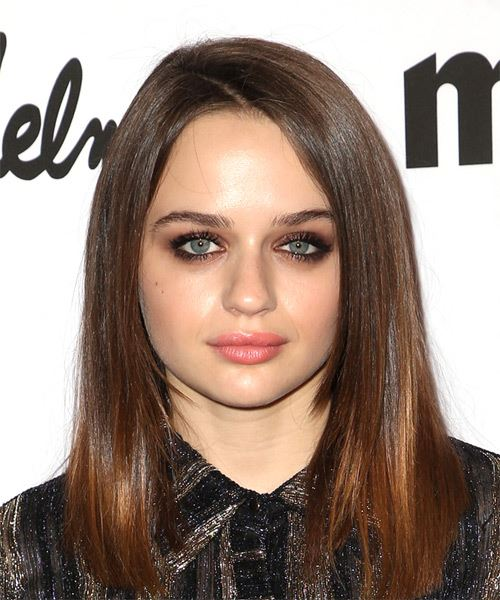 Joey King Medium Straight Casual  Bob  Hairstyle   -  Brunette Hair Color