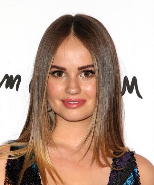 Debby Ryan Long Straight Formal    Hairstyle   -  Brunette Hair Color