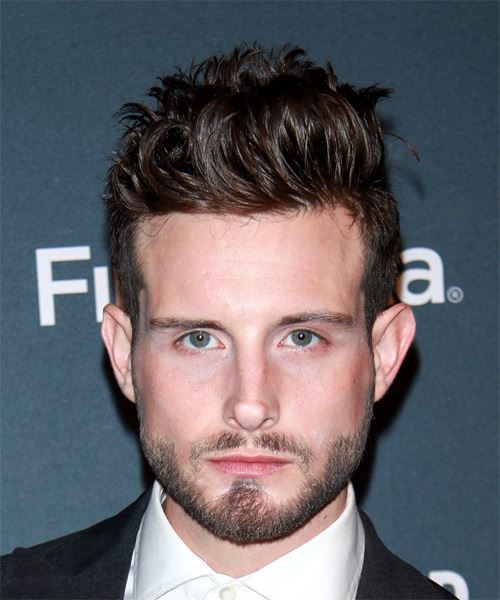 Nico Tortorella Short Wavy Casual    Hairstyle   -  Brunette Hair Color