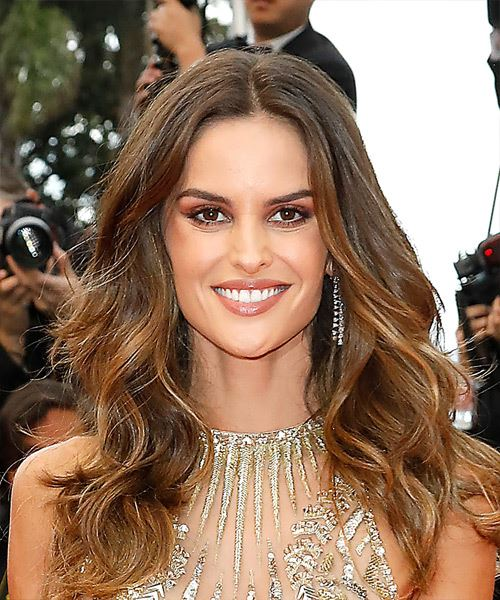 Izabel Goulart Long Wavy Formal    Hairstyle   -  Brunette Hair Color