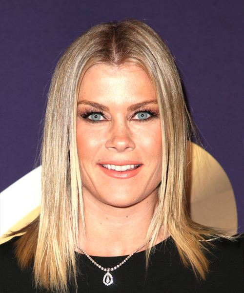 Alison Sweeney Medium Straight Casual  Bob  Hairstyle   - Light Blonde Hair Color