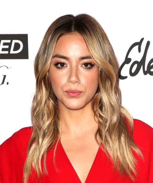 Chloe Bennet Long Wavy Casual    Hairstyle   - Dark Blonde Hair Color
