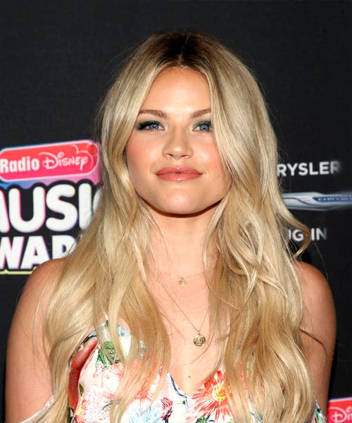 Witney Carson Long Straight Light Blonde Hairstylet with Medium Hair Texture