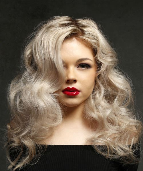 Long Wavy Light Ash Blonde Hairstyle