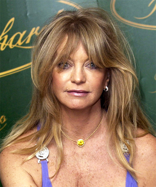 Goldie Hawn Long Straight Casual   Hairstyle