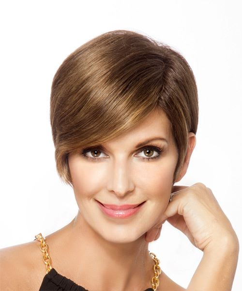 Short Straight   Light Brunette   Hairstyle