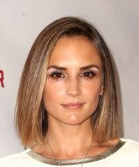 Rachael Leigh Cook Medium Straight Casual  Bob  Hairstyle   - Light Brunette Hair Color