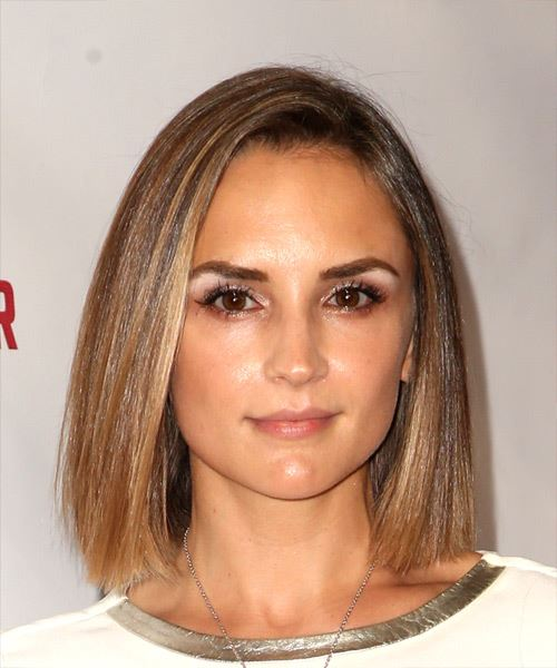 Rachael Leigh Cook Medium Straight   Light Brunette Bob  Haircut