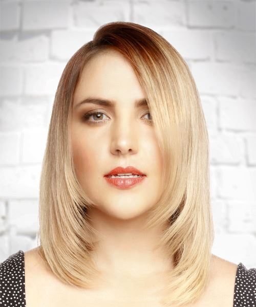 Medium Straight   Light Blonde Bob  Haircut