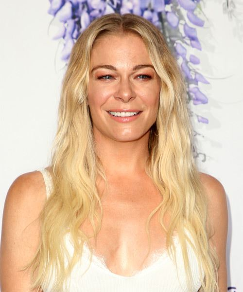 LeAnn Rimes Long Wavy Casual    Hairstyle   - Light Blonde Hair Color