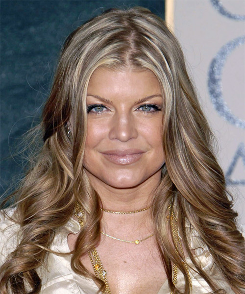 Fergie Long Wavy Formal Hairstyle