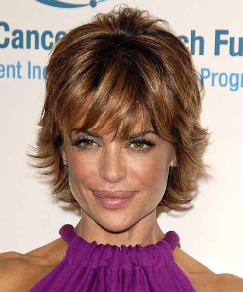 Lisa Rinna Short Straight Formal    Hairstyle with Layered Bangs