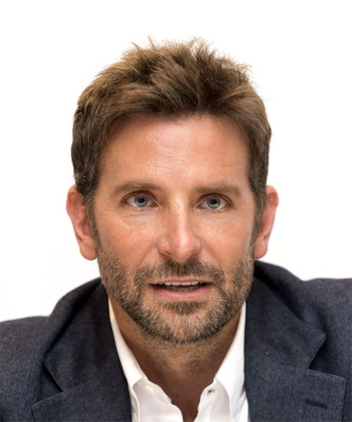Bradley Cooper Short Straight Casual  Asymmetrical  Hairstyle   - Light Copper Brunette Hair Color
