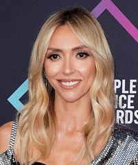 Giuliana Rancic Long Wavy Formal    Hairstyle with Layered Bangs  -  Platinum Blonde Hair Color