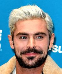 Zac Efron Short Straight Casual    Hairstyle   - Light Platinum Blonde Hair Color
