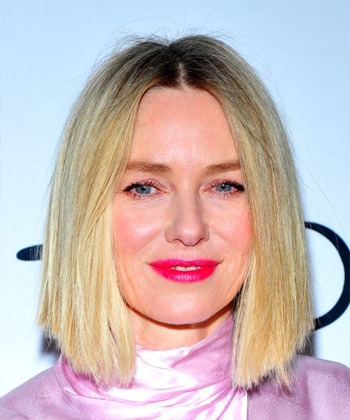 Naomi Watts Medium Straight Formal  Bob  Hairstyle   -  Golden Blonde Hair Color